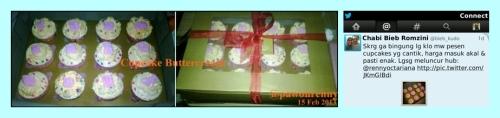 Cupcake Buttercream pesenan Bibah